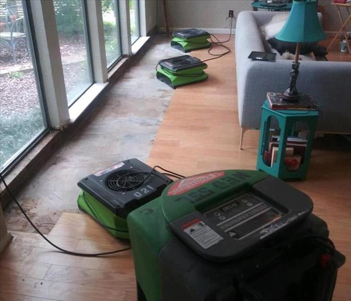 Air drying equipment on floor.