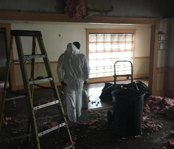 SERVPRO team in action on a commercial job.