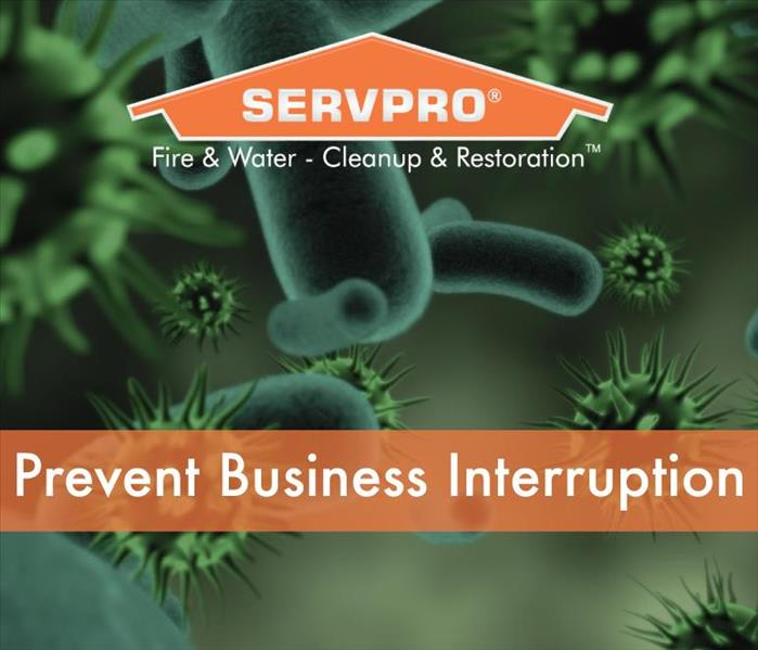 a graphic that says prevent business interruption